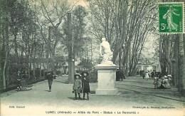 """34 LUNEL  Allée Du Parc - Statut """" Les Remords"""" - Lunel"""