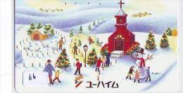 TELECARTE JAPON * BONHOMME DE NEIGE * TELEFONKARTE JAPAN * SCHNEEMANN (66)  PHONECARD * SNOWMAN * CHRISTMAS  WEIHNACHTEN - Kerstmis