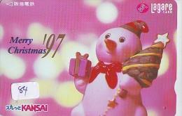 Carte Prépayée  Japon * BONHOMME DE NEIGE  KARTE JAPAN  SCHNEEMANN (84)  PREPAID CARD SNOWMAN CHRISTMAS  WEIHNACHTEN - Kerstmis