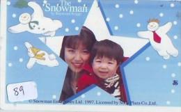 Carte Prépayée  Japon * BONHOMME DE NEIGE  KARTE JAPAN  SCHNEEMANN (89)  PREPAID CARD SNOWMAN CHRISTMAS  WEIHNACHTEN - Navidad