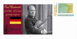 Spain 2013 - History Of Classical Music - Paul Hindemith Special Prepaid Cover - Musica