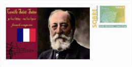 Spain 2013 - History Of Classical Music - Camille Saint-Saëns Special Prepaid Cover - Musica
