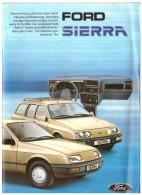 Betriebsanleitung , Handbuch - Ford Sierra 1985 , Komplette Mappe , Mit Zubehörprospekt !!! - Cars