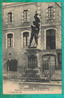 OO   -  CPA   HAUTES ALPES (05)  LES ALPES - LES SAVINES- PLACE DE LA MAIRIE-MONUMENT A LA MEMOIRE DES SAVINOIS - - France