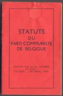 Statuts Du Parti Communiste De Belgique - 1954 - Vieux Papiers