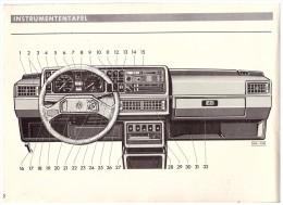 Betriebsanleitung , Handbuch - VW Golf 1986 , 128 Seiten , Volkswagen !!! - Cars
