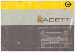 Betriebsanleitung , Handbuch - Opel Kadett 1986 , 128 Seiten !!! - Cars
