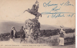 STATUE DE JEANNE D'ARC BALLON D'ALSACE(dil64) - Personnages Historiques