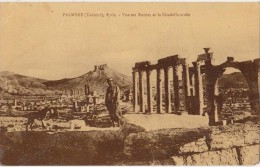 CPA LIBAN LEBANON PALMYRE Vue des Ruines