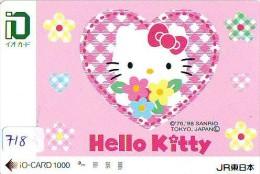 Carte Prépayée  Japon * HELLO KITTY * CAT * CHAT * Katze (718) PREPAID CARD JAPAN * KARTE * TRAIN * JR * IO - BD