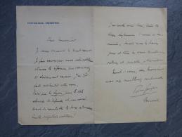 Pierre Goujon, Député, Modèle D´Auguste RENOIR, Pont-de-Vaux, Let Autographe élections ; Ref 880 - Autographes