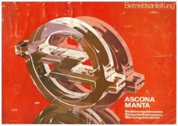 Betriebsanleitung , Handbuch - Opel Manta , Ascona , 1979 , 108 Seiten !!! - Cars