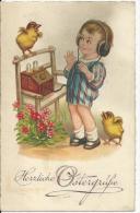 Herzliche Ostergrüße - Joyeuses Pâques - Carte Allemande Enfant Et TSF Berlin 23 Mars 1932 - Pâques
