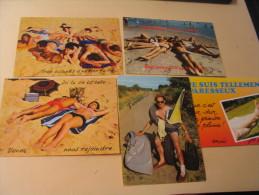 LOT DE 5 CARTES ...VACANCES.... - Cartes Postales