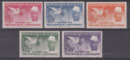 GUINEE   1959   INDEPENDENCE       SET    MNH - Guinea (1958-...)