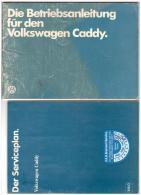 Betriebsanleitung , Handbuch - VW Caddy 1982 , Komplette Mappe Mit Serviceplan Und VAG Service !!! - Cars