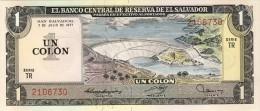 BILLET # SALVADOR # 1977 # UN COLON  # PICK 87B # NEUF # - El Salvador