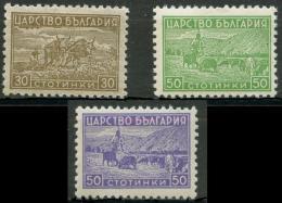 BULGARIA 1940-1 Agricultural Scenes (3v), VF MNH - Farm