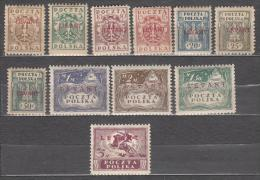 Poland 1919 Mi# 1-12 Levant  MH * Mi# 11 Is Missing - Levant (Turkey)