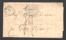 FRANCE Marque Postale 1843 Taxée Bulgneville - Marcophilie (Lettres)