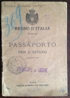 ^ LOBBI ALESSANDRIA REGNO PASSAPORTO PER L´ESTERO Z2 - Documents Historiques