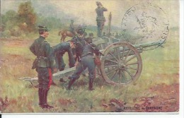 6 - LES ARMES FRANCAISES - ARTILLERIE DE CAMPAGNE ( BON PLAN ) Tampon Militaire - Militaria