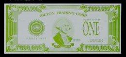 "Test Note ""HILTON Trading-ACCU BANKER"" Testnote,  1 Mill. Dollars, RRRRR, UNC, Sehr Alt!! - USA"