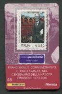 ITALIA TESSERA FILATELICA 2003 - ANNIVERSARIO NASCITA UGO LA MALFA - 080 - 6. 1946-.. Republik