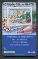 ITALIA TESSERA FILATELICA 2003 - GIORNATA DELLA FILATELIA - 084 - 6. 1946-.. Republik