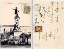Aigues-Vives - Statue D'Emile Jamais (tampon Et Timbre Taxe Au Verso) - Aigues-Vives