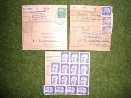 A2498) Bund Posten Mit 20 Paketkarten Aus 1958-1973 Mit Besseren Und Interessanten Frankaturen - Briefe U. Dokumente