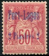 Port Lagos (1893) N 5 * (charniere) - Unused Stamps