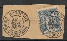 BORDEAUX COURS D 'AQUITAINE Gironde Sur SAGE. Lot 2 - Marcophilie (Timbres Détachés)
