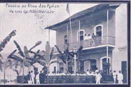 STP3  --  PASSEIO AO LIHEU DAS ROLLAS  --  NA CASA DA ADMINISTRACAO  --  1912 - Sao Tome And Principe