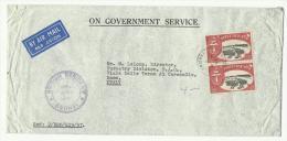 1957 Lettre De Brunei, On Government Service Pour La FAO à Rome, Cachet British Resident (consulat) - Brunei (1984-...)