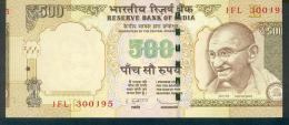 India, Indien, Wrong Cut Error Banknote, Fehlschnitt, 500 Rupees, P. 99, Sign. 90, 2013, UNC ! - Indien