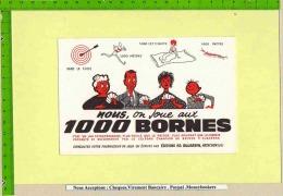 Buvard : Editions Dujardin :1000 Bornes Cible , Jeux Divers Recommandé Par  Le Champion De Bridge - Sports