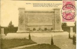 Wulpen - Monument Aux Morts - 2 Timbres Magenta Recto Roi Des Belges  30c - Sonstige