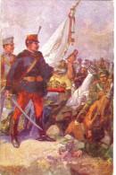 #2074 Militaria, Postcard Unused 1914: WW1, Hungarian Army In Defense Of The Holy Crown - Pittura & Quadri