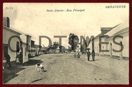 BENAVENTE - SANTO ESTEVAO - RUA PRINCIPAL - 1910 PC - Santarem