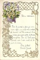 Superbe Lettre Gaufrée Avec Decoupi - Fleurs - 1926 - Fleurs