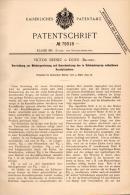 Original Patentschrift - V. Brenez In Dour / Mons , 1894 , Gewinnung Von Zucker Aus Schleudersirup , Sirup !!! - Machines