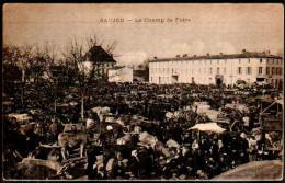 CPA - Saujon  Le Champ De Foire - Cows, Cattle Market 1919 - Soldier's Mail - Saujon