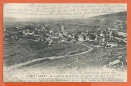 FEL845, Pontarlier, Panorama De La Ville, Pli, Précurseur, Circulée 1904 - Non Classés