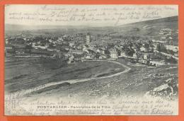 FEL845, Pontarlier, Panorama De La Ville, Pli, Précurseur, Circulée 1904 - France