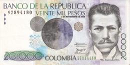 BILLETE DE COLOMBIA DE 20000 PESOS DE ORO AÑO 2005 (BANKNOTE) - Colombia
