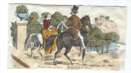 Imagerie Epinal / Pellerin ? /Bilingue Franco Allemande/Promenade Au Bois/Vers 1850-1870     IM525 - Other