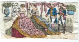 Imagerie Epinal / Pellerin ? /Bilingue Franco Allemande/La Toilette De Cour/Vers 1850-1870  IM527 - Other