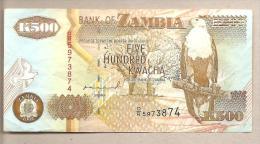 Zambia - Banconota Circolata Da 500 Kwacha  - 1992 - Zambia