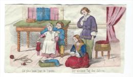 Imagerie Epinal / Pellerin ? /Bilingue Franco Allemande/Le Plus Beau Jour De L'année/Vers 1850-1870     IM529 - Other